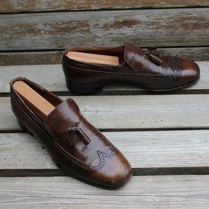 Vtg Ferragamo Brown Calfskin Loafer, Made in Italy